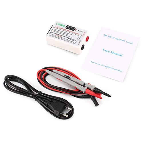 GJ2B Spannung LED LCD TV Hintergrundbeleuchtung Zener Diode Tester Meter Lampe Streifen Bead Light Board Test Tool Ausgang 0~260 V Eu-stecker (farbe: Weiß)