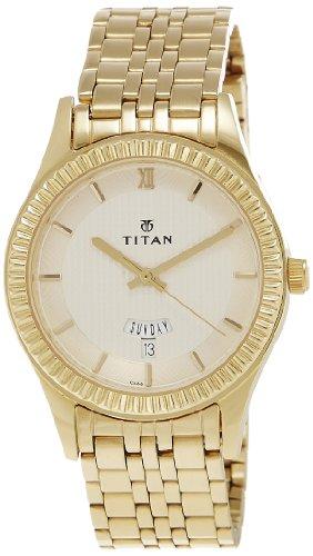 Titan Regalia Analog White Dial Men's Watch - NE1528YM04 image