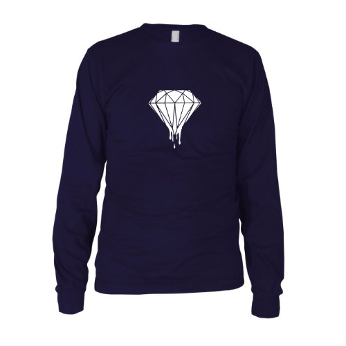 Dripping Diamond - Herren Langarm T-Shirt Dunkelblau
