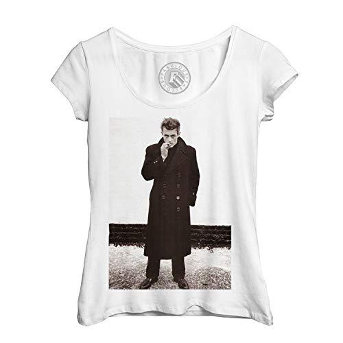 Frauen T-Shirt Foto von Star Berühmte James Dean Schauspieler Altes Kino Original 6 (Stars Kino 6)