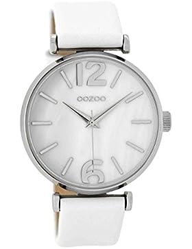 Oozoo Damenuhr mit Lederband Weiß C8915