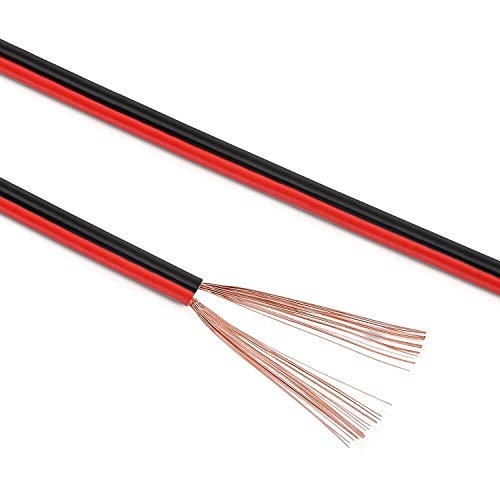 Manax SC2075RB-50 Lautpsrecherkabel 2x0,75 mm² CCA (Boxenkabel/Audiokabel), Ring 50 m, rot/schwarz