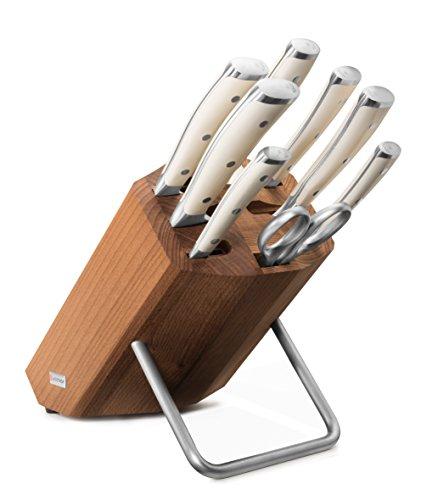 WÜSTHOF Messerblock mit 8 Teilen Messer, Stahl, thermobuche, 41.5 x 27.8 x 15.2 cm, 8-Einheiten (Wusthof Messer-stahl)