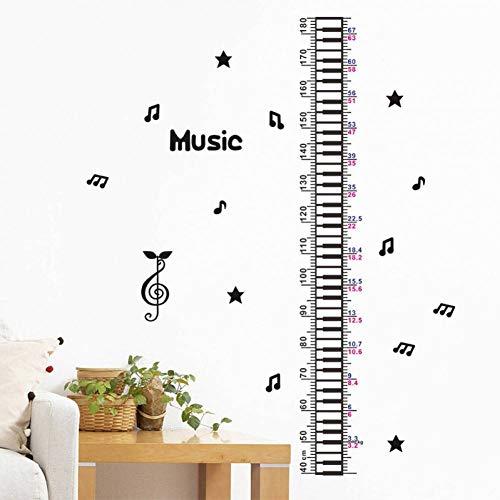 YRANPEA3D DIY Musik Piano Star Baby Kinder Höhe Maßnahme Wandaufkleber Kinderzimmer Kindergarten Hause Tür Decor Wachstum Chart - Wachstum Chart Tür