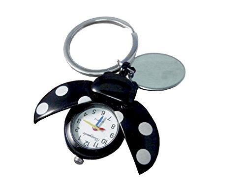 Plaque de porte-clés avec montre Noir Coccinelle dans étui en velours noir-ref- O25BLK-k