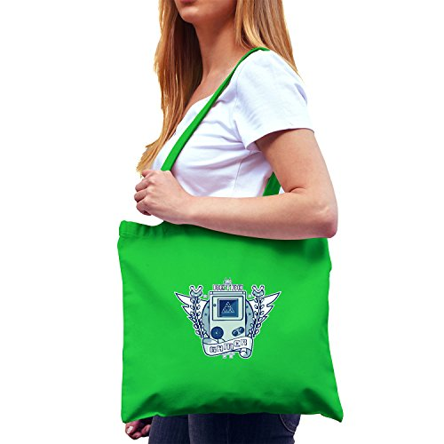 Tetris Kostüm Grün - NERDO - Retro Gamer Logo - Stoffbeutel, grün