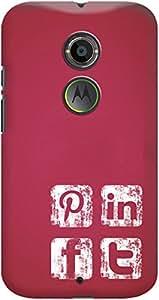 Kasemantra Social Media Icons Case For Motorola Moto X2