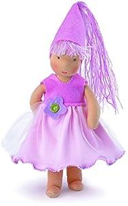 """Käthe Kruse 138451""""Elfo Mirabell con Vestido/Gorra de Punto Rag Doll, 21cm"""