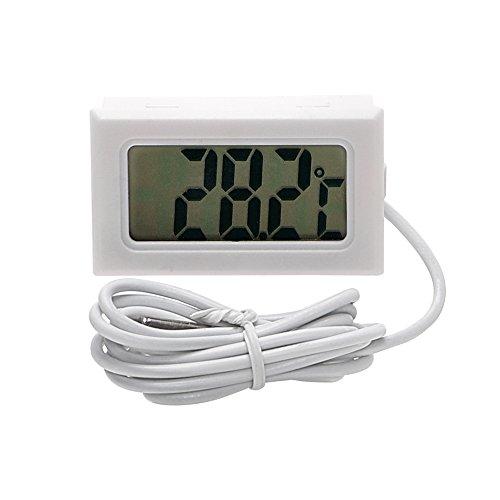 itimo Auto-Thermometer Temperatur Messgerät für Fische Tank Kühlschrank Digital Uhr car-styling LCD Display Autos Ornaments (weiß)