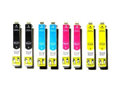 Preisvergleich Produktbild *TiToPaten®* 8x kompatible Tintenpatronen für Epson WorkForce WF 3620 DWF SET in den Farben 2xSchwarz, 2xCyan, 2xMagenta, 2xGelb Typ T2711, T2712, T2713, T2714