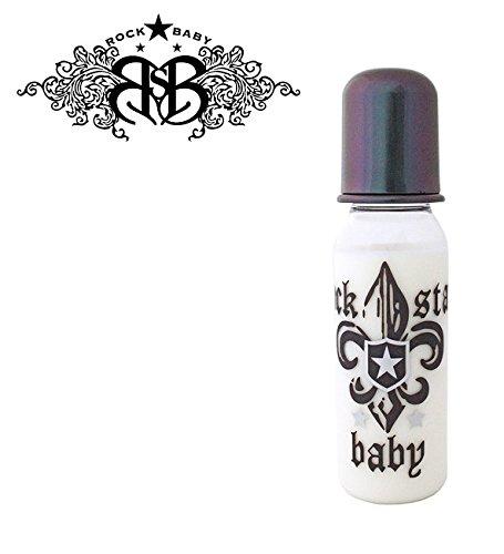 """Preisvergleich Produktbild ROCK STAR """"BLACK ROCK STAR"""" - No.90445 - 1x Baby Flasche Physiologische Dental Silikon, 1x 250ml Flasche/ BLACK (0-6m+)"""