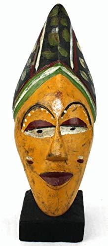 afriqueartdecoration.com Masque Passport Ancien sur socle-7829