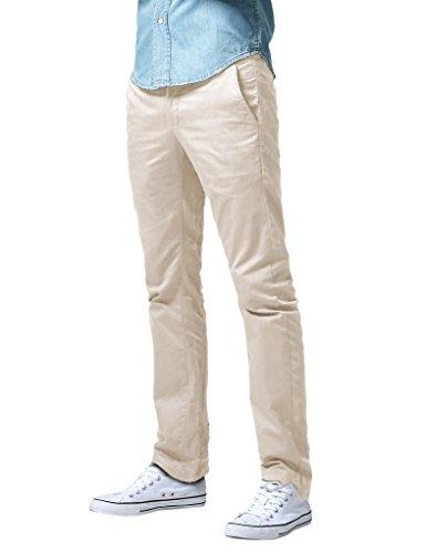 Match Herren Slim Straight Casual Hose #8036 8036 Blass rosa