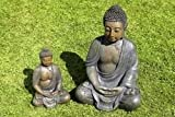 Skulptur meditierender Buddha Innen und Außen (wetterfest)
