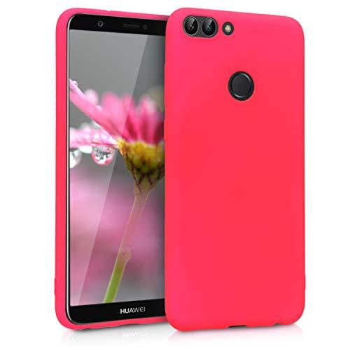 kwmobile Huawei Enjoy 7S / P Smart Hülle - Handyhülle für Huawei Enjoy 7S / P Smart - Handy Case in Neon Pink