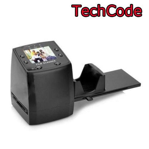 Film Scanner, TechCode 35mm Dia-Scanner Filmscanner Dias Digital Wandler Unterstützung SD Karte (Mit 16G SD Karte)