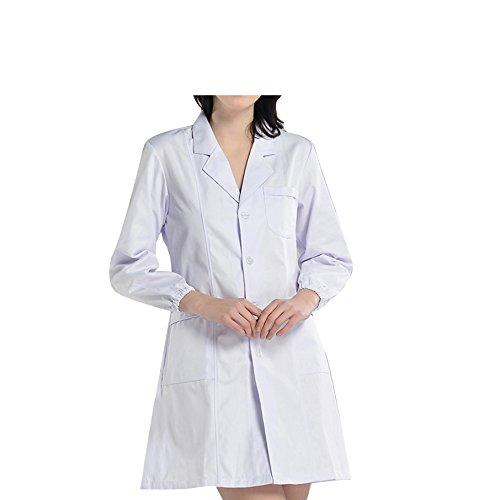 Bstt donna camice da laboratorio bianca abbigliamento da lavoro e divise 2018 nuovo miglioramento maniche elastiche sottile s