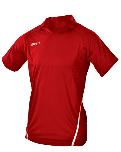 GRAYS G750 JUNIOR HOCKEY-SHIRT-ROT-WEISS, GR. 11-12