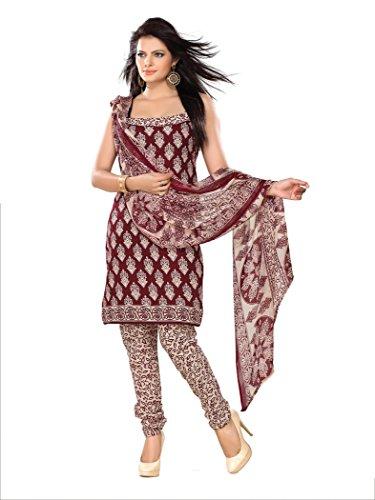Florence Women's Dress Material (SB-1547_Maroon_Freesize)