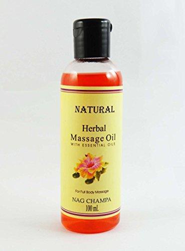 Huile de massage Nag Champa Natural Herbal Avec huile essentielle pour 100 ml Full Body