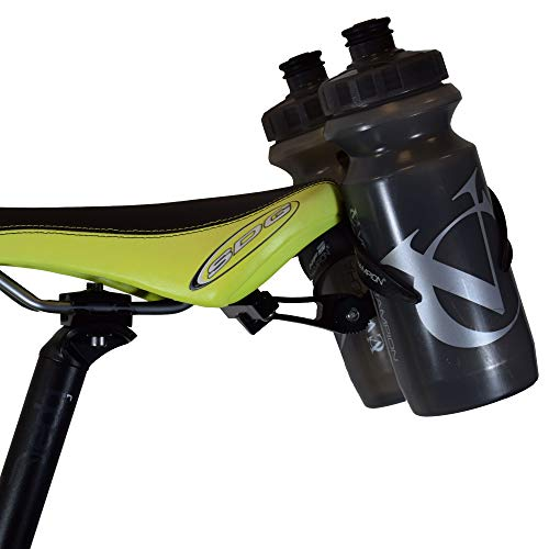 VeloChampion doppelte Halterung für Wasserflaschen - Legierung schwarz für Radfahren Triathlon Fahrrad (Fahrräder Triathlon)