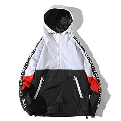 Kapuzenpullover Herren Patchwork, Holeider Hoodies Herbst Winter Reissverschluss Sweatshirt Pullover Windbreaker Mantel Lässig Long Sleeve Full Zip Fleece