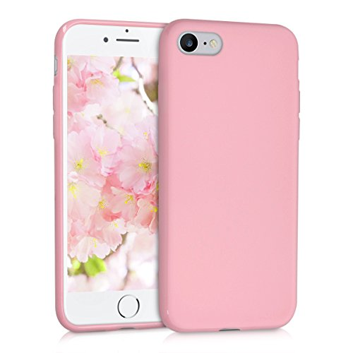 Kwmobile apple iphone 7/8 cover - custodia per apple iphone 7/8 in silicone tpu - backcover protezione rosa antico matt