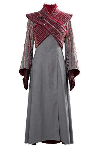 Daenerys Kostüm Stoff - RedJade Game of Thrones Season 8 Daenerys Targaryen Cosplay Kostüm Damen XS