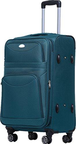 BEIBYE 8009 TSA Schloß Stoff Trolley Reisekoffer Koffer Kofferset Gepäckset (Türkis, Set) - 2