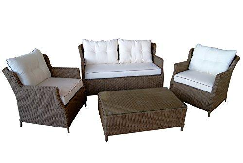 Beherzig Rattan Gartenmöbel Lounge Sitzgruppe Set elegant komfortabel Beste Verarbeitung