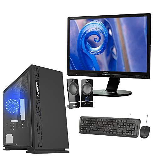 Pc desktop assemblato intel quad core,ram 8gb,hdd 1 tb hd ,windows 10 pro computer fisso casa ufficio ,monitor 19