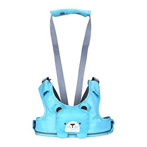 tecare de auxiliar de caminar cinturón arnés de seguridad para bebé Little Kid Niños Niñas arnés riendas (seguridad Leash azul azul
