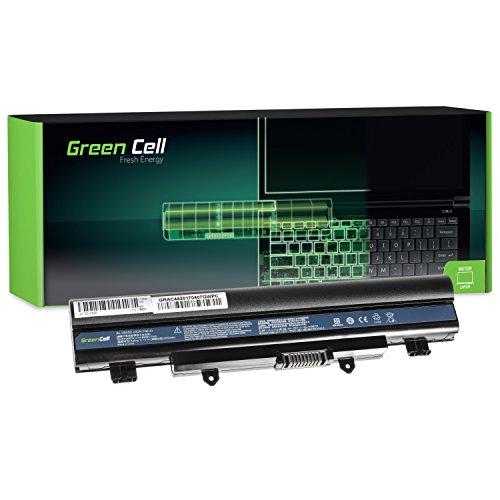 Green Cell® AL14A32 Laptop Akku für Acer Aspire E14 E15 E5-511 E5-511G E5-511P E5-521 E5-551 E5-551G E5-571 E5-571G E5-571PG E5-572 E5-572G V3-572 V3-572G V3-572P (6 Zellen 4400mAh 11.1V Schwarz)
