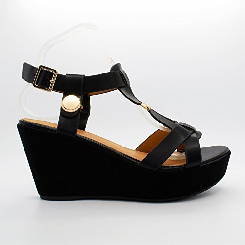 London Footwear , Bride de cheville femme Noir - noir