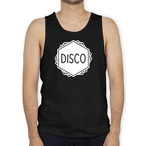 Shirtracer Festival - Disco Festival Motiv - 3XL - Schwarz - BCTM072 - Tanktop Herren und Tank-Top Männer