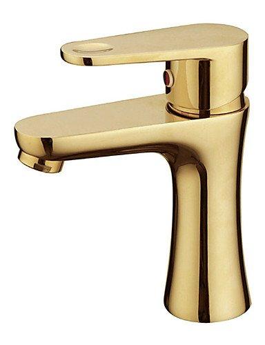 maniglia controsoffitto ottone del miscelatore del bacino del rubinetto , golden