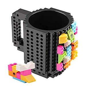 Coolty Tazza Mattoncini di Construire, Tazze di Taffè con 2 Blocks Compatibile con Lego, Idea Regalo di Natale (Nero) LEGO HIDDEN SIDE LEGO