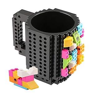Coolty Tazza Mattoncini di Construire, Tazze di Taffè con 2 Blocks Compatibile con Lego, Idea Regalo di Natale (Blu) LEGO HIDDEN SIDE LEGO