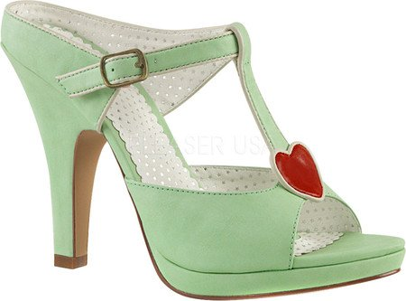 Pin Up Couture SIREN-09 Mint Faux Leather
