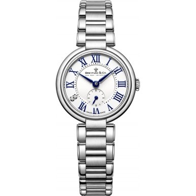 Dreyfuss and Co DLB00157-01 Ladies 1974 Silver Steel Bracelet Watch