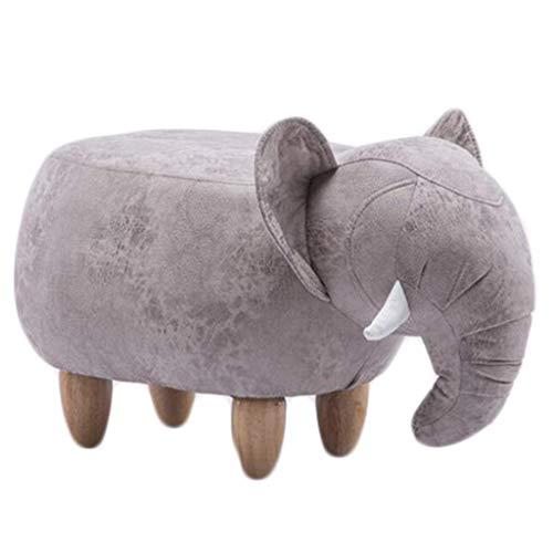 Gao xing shop cartone animato bambini  sgabelli sgabello da divano in legno massello con sgabello girevole a forma di elefante creativo (colore : #5, dimensioni : 66 * 34 * 39cm)