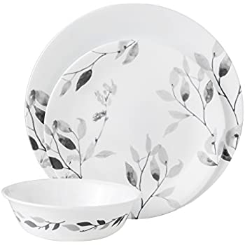 Vitrelle Glass Service for 4 Corelle 3400 Cordoba Chip /& Break Resistant 16pc Dinner Set