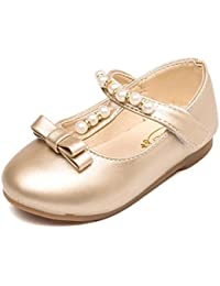 faf3a71a831b9 Bebe Fille Princess EU 21-35 Perle Chaussures Mary Jane Ballerine pour  soiree ceremonie mariage