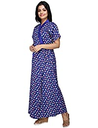 9d825aa9ee3f3 Baby Doll Women's Cotton House Coat Nighty (Clo_Nig_4070.11, Blue, XL)