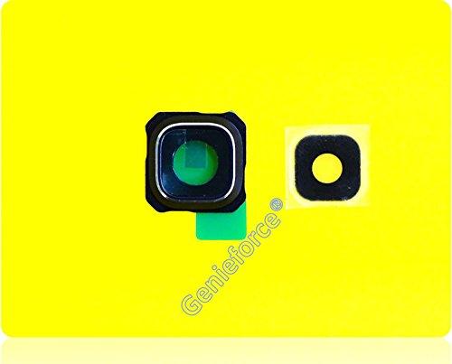 Premium✔ Samsung Galaxy S6 EDGE+ PLUS SM-G928F G928F Kameralinse Set – SCHWARZ / BLAU - Komplett 3-in-1 Set Kameralinse Glas + Rahmen + Original 3M Doppelseiter Klebestreifen – SCHWARZ / BLAU - NEU ֎