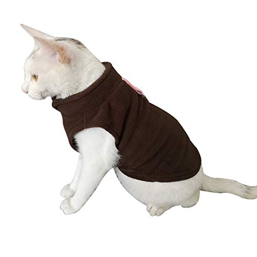 Bluelucon HundeKleidung Warm Hoodies Mantel Hundejacke Hündchen Pullover Mantel Haustier Welpen T-Shirt -