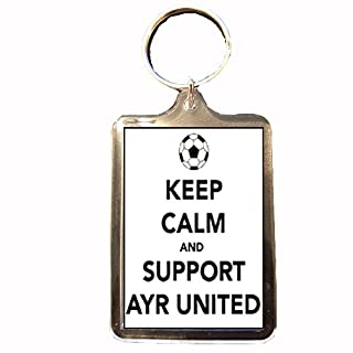 B Gifts Ayr United F.C - Keep Calm Keyring