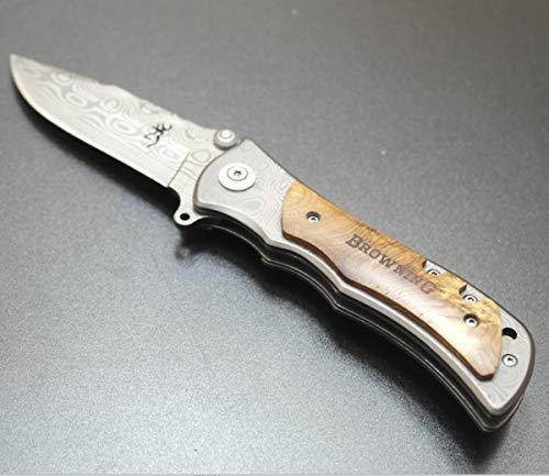 KNIFE SHOP MA Shige Tiger Pattern Cuchillo Plegable