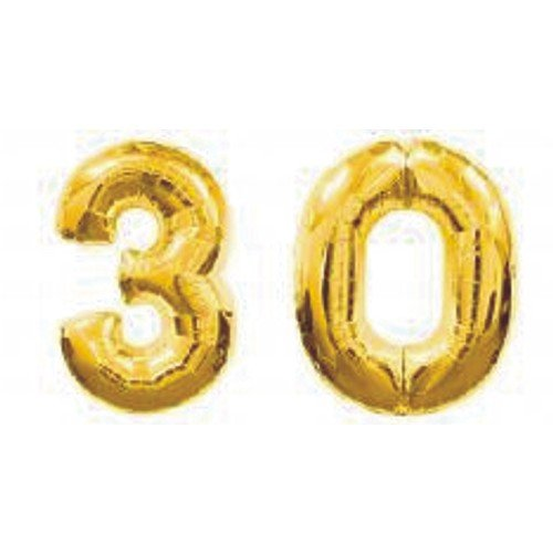 Giant 30th Gold Number Balloons