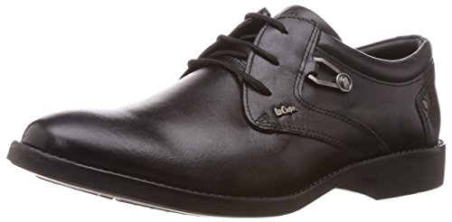 Lee Cooper Men's Black Leather Formal Shoes - 10 UK